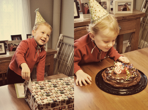 ​David's third birthday! (Party hat by Amanda)