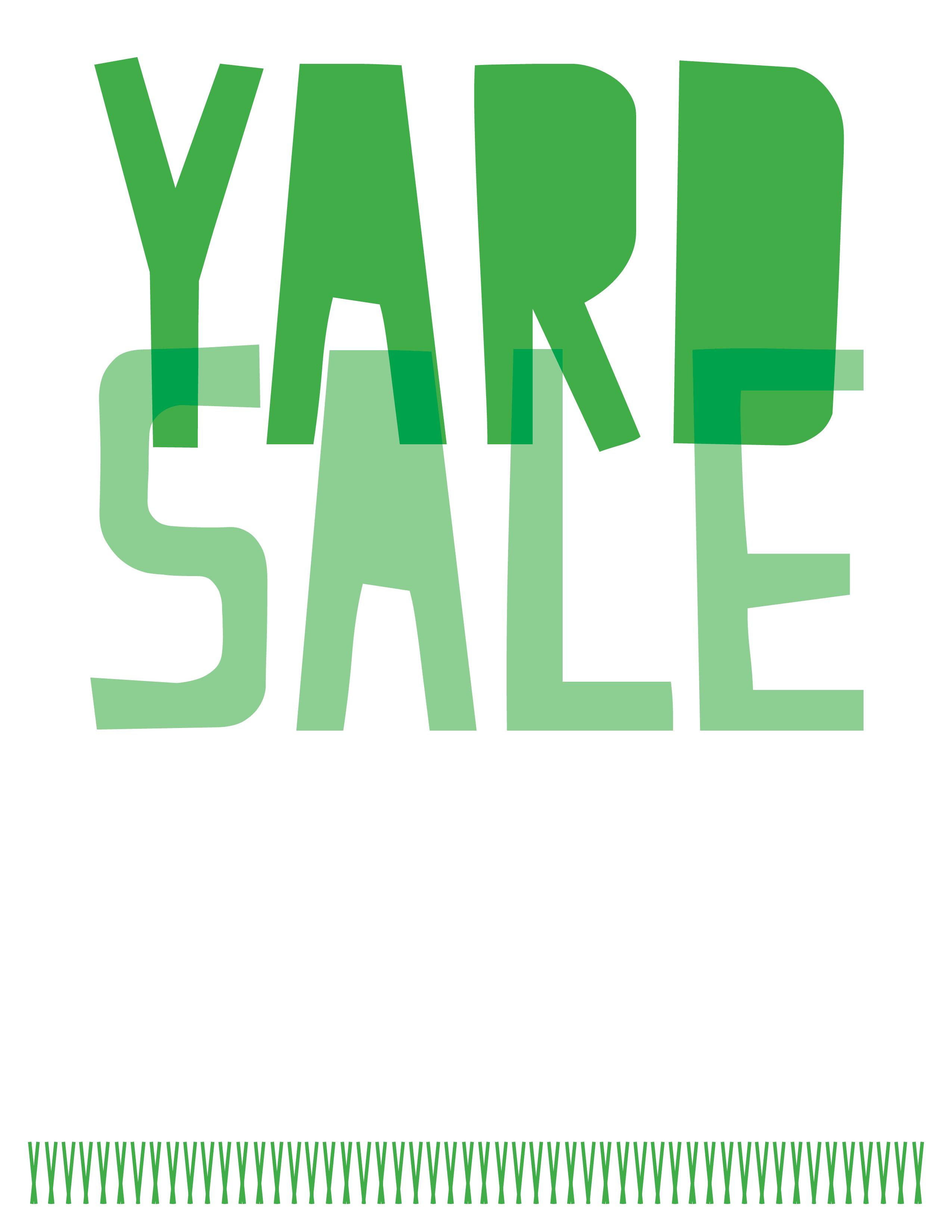 yard sale template word