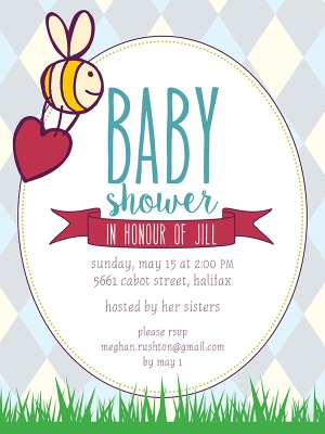 Argyle-Baby-Shower Invite